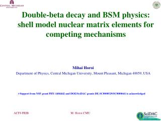 Double-beta decay and BSM physics: shell model nuclear matrix elements for competing mechanisms