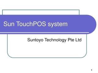 Sun TouchPOS system