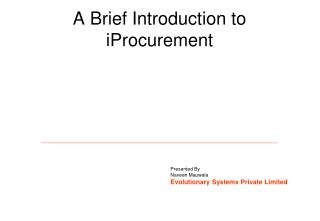 A Brief Introduction to iProcurement