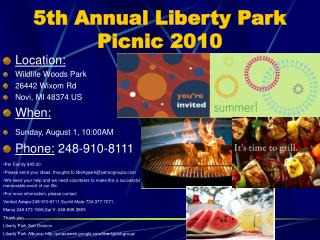 5th Annual Liberty Park Picnic 2010