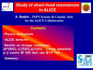 Study of short-lived resonances in ALICE