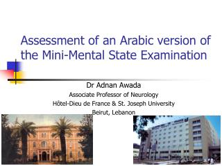 Assessment of an Arabic version of the Mini-Mental State Examination