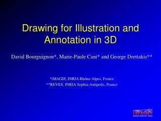 Drawing for Illustration and Annotation in 3D