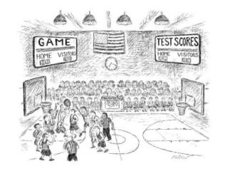 "Visual Literacy: Argument ""Two Scoreboards"" –Edward  Koren"