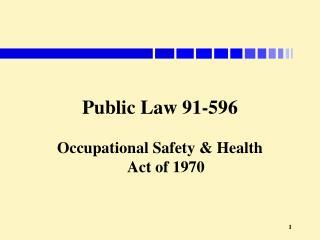Public Law 91-596