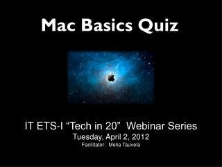 Mac Basics Quiz