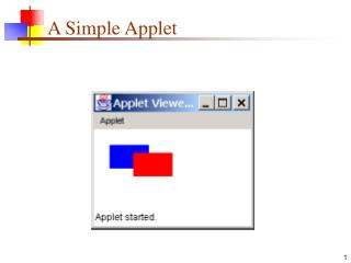 A Simple Applet