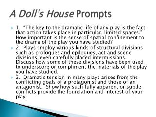 A Doll's House  Prompts