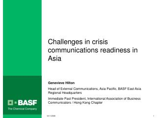 Challenges in crisis communications readiness in Asia