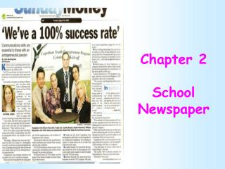 Chapter 2 School Newspaper