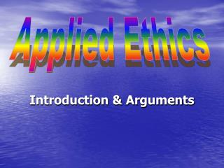 Introduction  Arguments