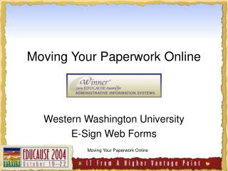 Moving Your Paperwork Online