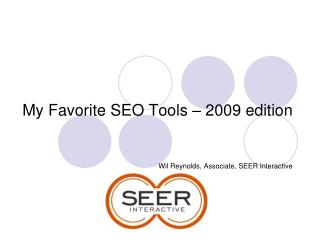 My Favorite SEO Tools – 2009 edition