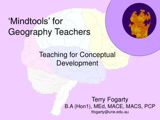 'Mindtools' for Geography Teachers