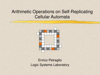 Arithmetic Operations on Self-Replicating Cellular Automata