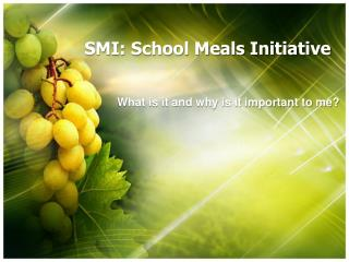 SMI: School Meals Initiative