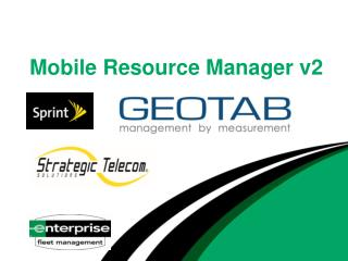 Mobile Resource Manager v2