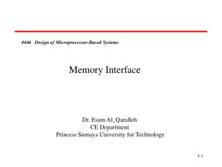 4446   Design of Microprocessor-Based Systems