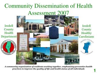 Community Dissemination of Health Assessment 2007