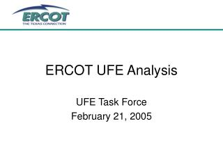 ERCOT UFE Analysis