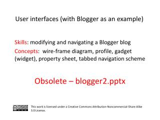 S kills : modifying and navigating a Blogger blog