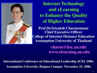 Internet Technology and eLearning  to Enhance the Quality  of Higher Education