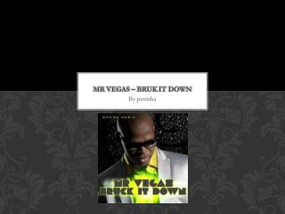 Mr  vegas  –  Bruk  it down