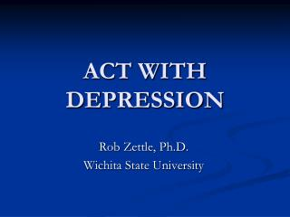 ACT WITH DEPRESSION