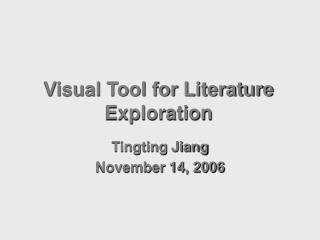 Visual Tool for Literature Exploration