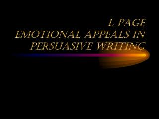 L page Emotional Appeals in  Persuasive Writing