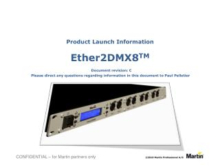 Martin Professional Ether2DMX8