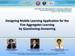 Designing Mobile Learning Application for the Five Aggregates Learning  by Questioning-Answering