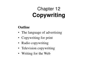 Chapter 12 Copywriting