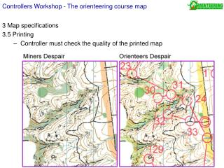 Controllers Workshop - The orienteering course map