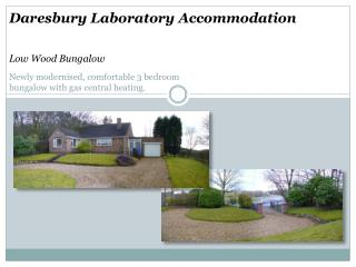 Daresbury Laboratory Accommodation