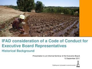 IFAD consideration of a Code of Conduct for Executive Board Representatives Historical Background