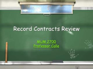 Record Contracts Review