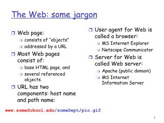 The Web: some jargon