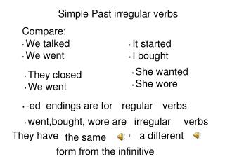 Simple Past irregular verbs