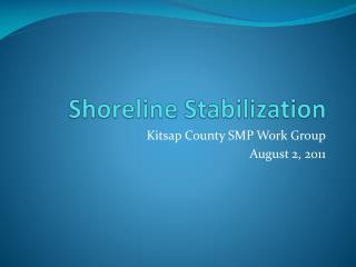 Shoreline Stabilization