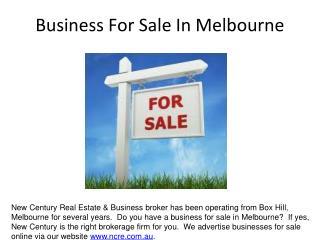 New Century Real Estate & Business Broker