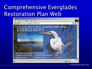 Comprehensive Everglades Restoration Plan Web