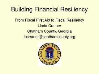 Building Financial Resiliency