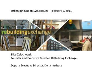 Urban Innovation Symposium – February 5, 2011