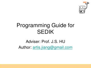 Programming Guide for SEDIK