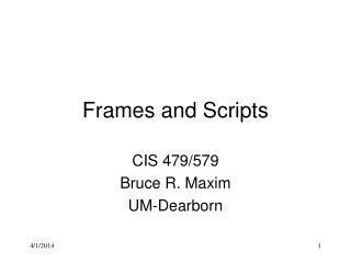 Frames and Scripts