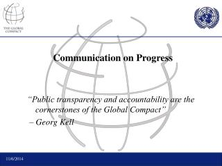 Communication on Progress