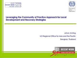 Leveraging the Community of Practice Approach for Local Development and Recovery Strategies