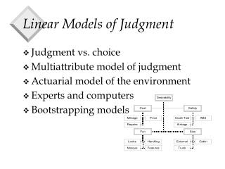 Linear Models of Judgment
