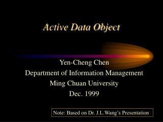 Active Data Object